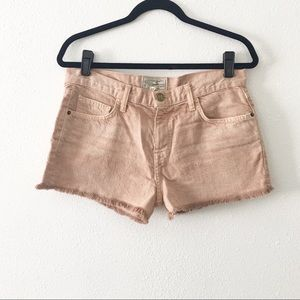 CURRENT/ELLIOTT | Mauve Cutoff Denim Shorts
